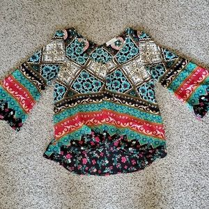 Chenault petite small twist front 3/4 sleeve